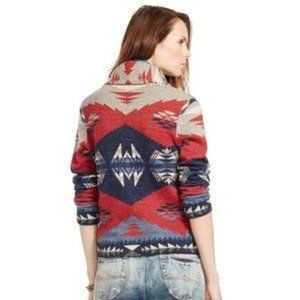 Denim & Supply Western Aztec Cardigan Sweater, S